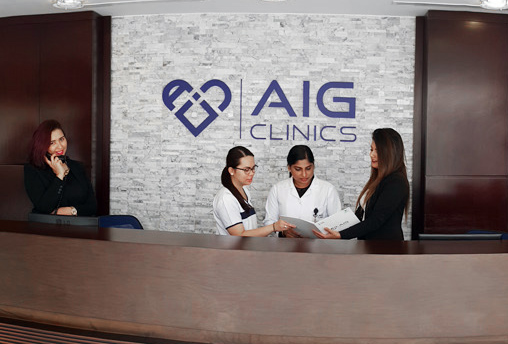 cosmetic clinic dubai aig reception 4