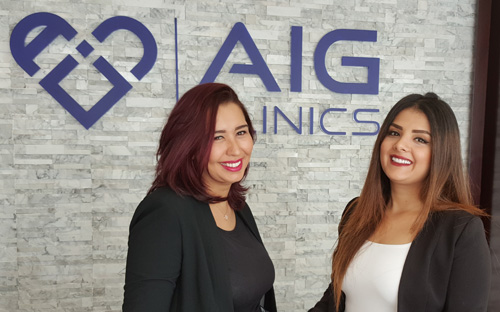 cosmetic clinic dubai aig reception 5